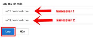 Hướng dẫn khai báo namesevers cho domain
