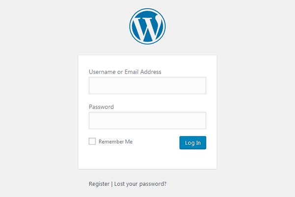 Đăng nhập wp-admin để tạo web miễn phí