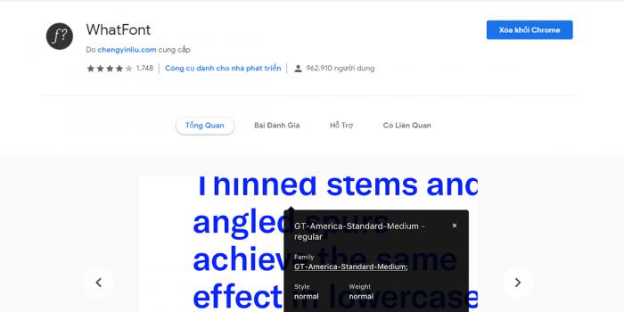 Kiểm tra giao diện website với ứng dụng what font