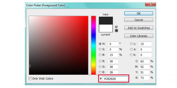 Màu chữ trên giao diện website