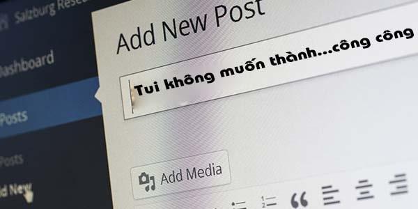 Bắt đầu 1 blog như thế nào