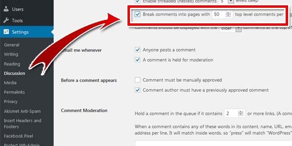 Cấu hình thu gọn phần bình luận comments trên wordpress